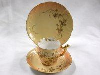 リモージュ トリオ Limoges 1890年製  D&Co 金彩