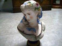 ビスク 女性 胸像