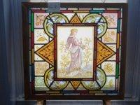 ステンドグラス (エナメル彩色の女性画付き) 8