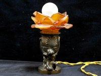 スタンドランプ オレンジバラ1灯