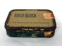 ビンテージ ティン(缶) GOLD BLOCK THE ARISTOCRAT OF PIPE TOBACCOS