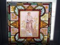 ステンドグラス (エナメル彩色の女性画付き) 6