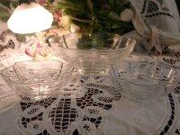 クリアガラス 花形ボウル セット (大x1、小x2)