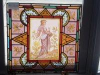 ステンドグラス (エナメル彩色の女性画付き) 1