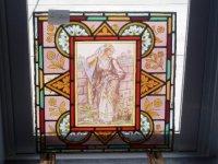 ステンドグラス (エナメル彩色の女性画付き) 2