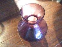 ガラス バーズ(花器) パープル