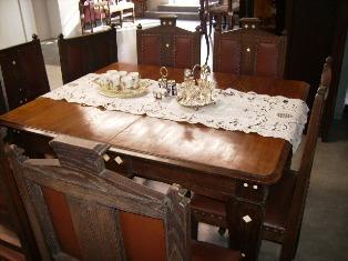 アンティーク 家具 テーブル・ダイニングセット ダイニングテーブル&チェアー6脚 セット