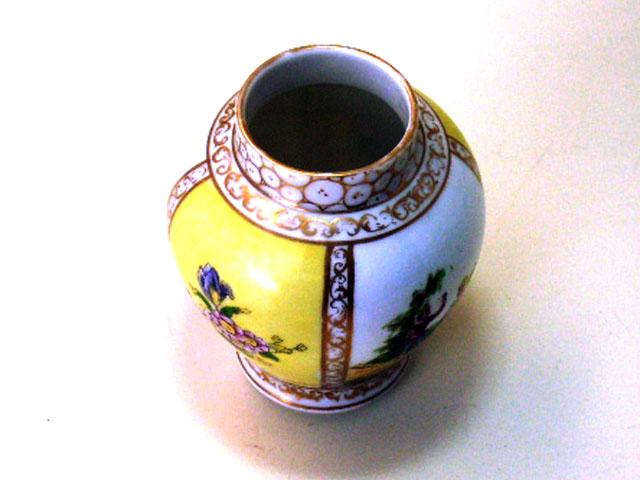 アンティーク 陶磁器 マイセン・ドレスデン コレクション ドレスデン風 壺(小)