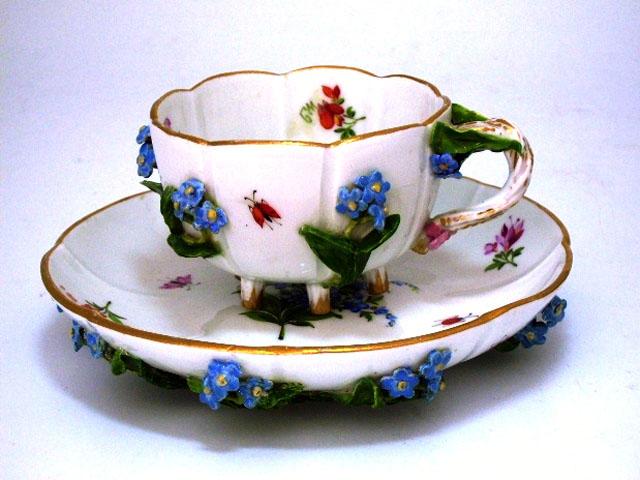 アンティーク 陶磁器 マイセン・ドレスデン コレクション カップ&ソーサー マイセン