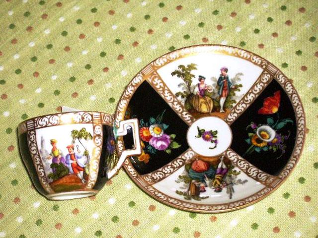 チョコレートカップ  マイセン・ドレスデン アンティーク 陶磁器 マイセン・ドレスデン コレクション