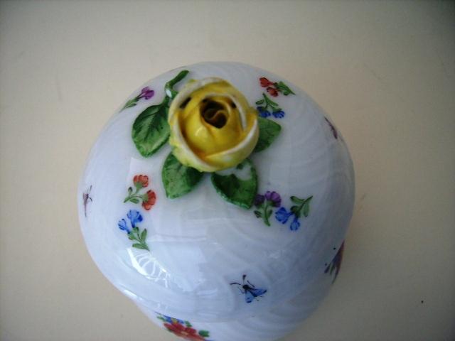 アンティーク 陶磁器 マイセン・ドレスデン コレクション マイセン ポット(蓋付き)
