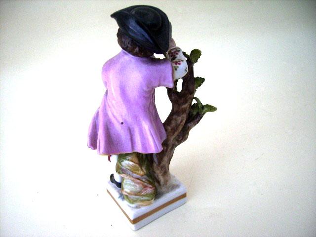 アンティーク 陶磁器 マイセン・ドレスデン コレクション フィギュア マイセン ペア (男の子・女の子)