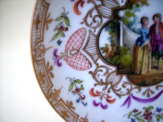 アンティーク 陶磁器 マイセン・ドレスデン コレクション プレート ドレスデン