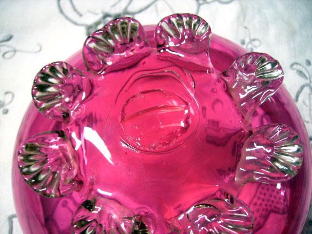アンティーク ガラス 赤系 クランベリー・ルービーなど クランベリー ボンボン入