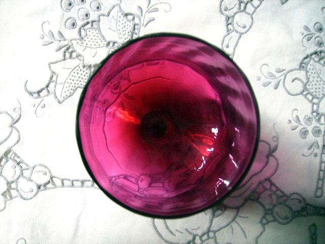アンティーク ガラス 赤系 クランベリー・ルービーなど クランベリー グラス