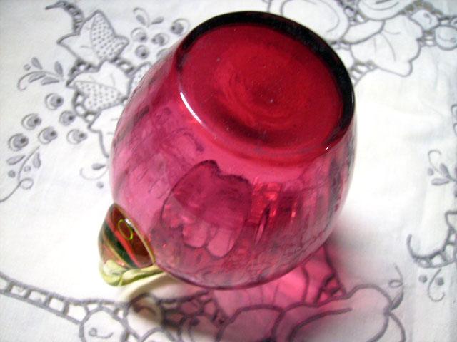 アンティーク ガラス 赤系 クランベリー・ルービーなど クランベリー ピッチャー