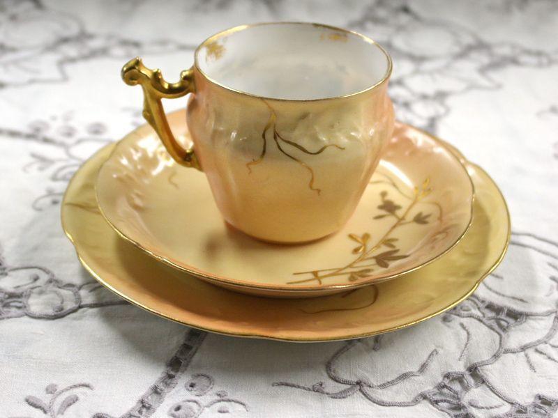 アンティーク 陶磁器 食器 カップ&ソーサー他 リモージュ トリオ