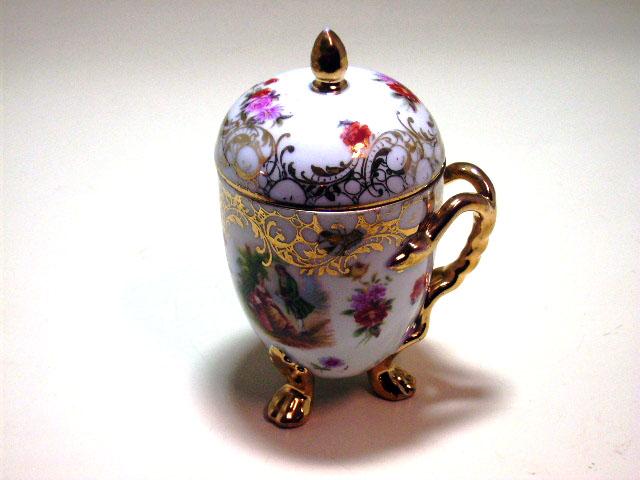 チョコレートカップ 蓋付 アンティーク 陶磁器 食器 カップ&ソーサー他