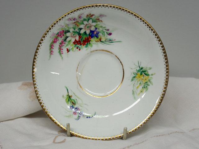 アンティーク 陶磁器 食器 カップ&ソーサー他 カップ&ソーサー 手描き