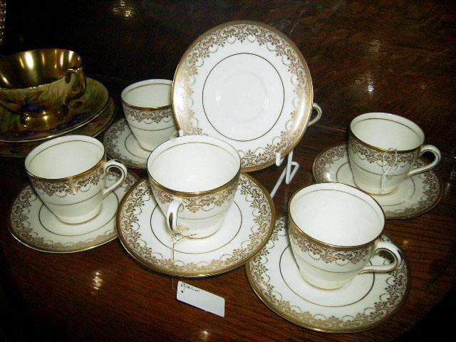 アンティーク 陶磁器 食器 カップ&ソーサー他 ロイヤルドルトン(Royal Doulton) カップ&ソーサ デミ 6客セット