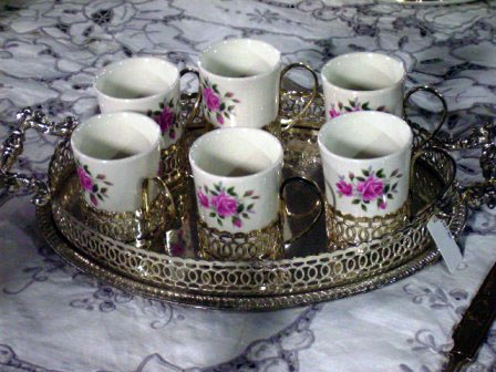 アンティーク 陶磁器 食器 カップ&ソーサー他 ウェッジウッド(Wedgewood) デミカップ6ヶ&トレー