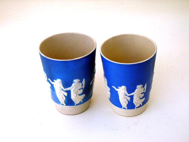 アンティーク 陶磁器 その他 コープランド カメオコップ (2ヶあり)