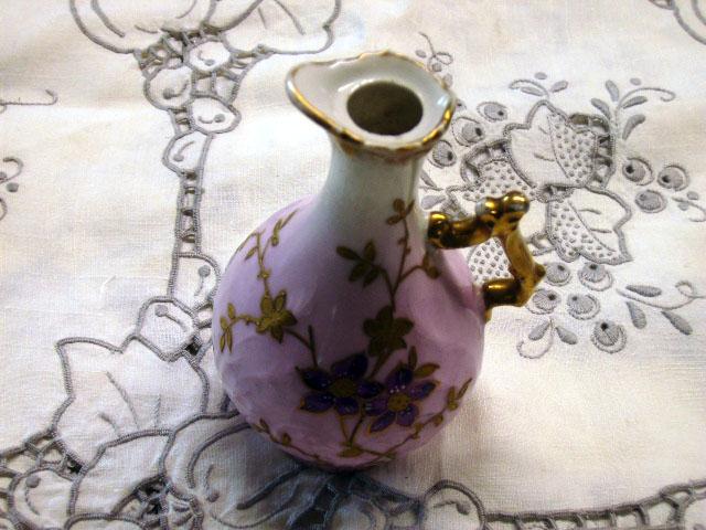 アンティーク 陶磁器 その他 リモージュ バーズ(花器) ペア