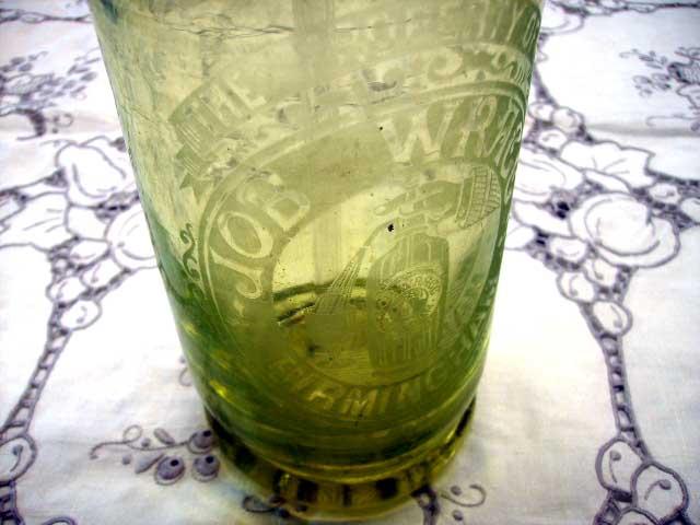 雑貨(パブ・グッズ) テーブル用品 ソーダー メーカー ライトグリーングラス
