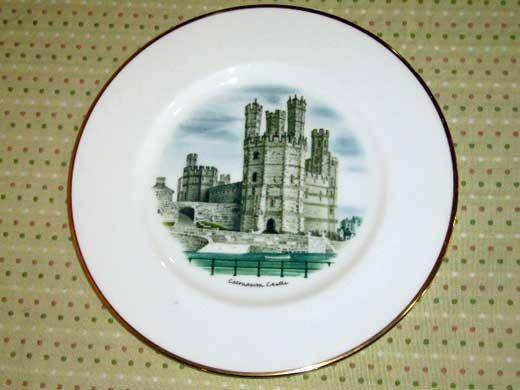 アンティーク 陶磁器 飾り用プレート ウェッジウッド(Wedgewood) プレート Watercolours of Castles…