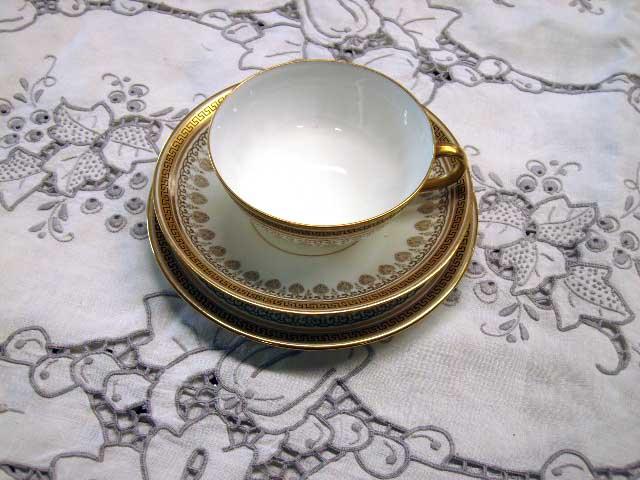 アンティーク 陶磁器 食器 カップ&ソーサー他 コールドン/Cauldon 金縁 30ピースセット