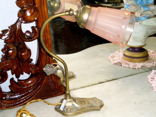 アンティーク 照明 ランプ用ブラケット(テーブル・ウォール用等) ランプ スタンド 真鋳 221-167 とペア