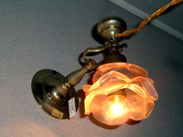 アンティーク 照明 ランプ用ブラケット(テーブル・ウォール用等) ウォールランプ ブラケット マリーン用 真鋳