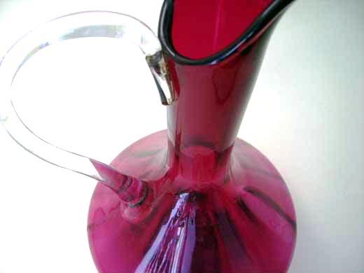 アンティーク ガラス 赤系 クランベリー・ルービーなど デカンタ クランベリー