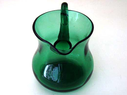 アンティーク ガラス グリーン・ブルー系 ジャグ グリーン