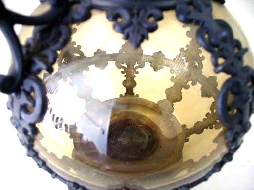 アンティーク ガラス クリアー系 デカンタ ピューター