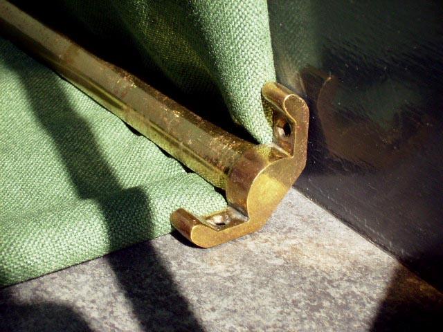 アンティーク 建材 建物付属品 階段カーペット ロッド&フィッティング 15本セット