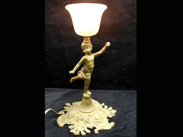 アンティーク 照明 ランプ用ブラケット(テーブル・ウォール用等) ランプスタンド エンジェル