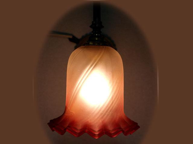 アンティーク 照明 シェード シェード  クランベリー・サテン