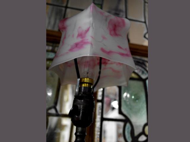 アンティーク 照明 シェード シェード ピンク・ホワイト マーブル