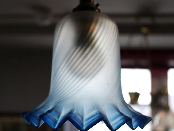 アンティーク 照明 シェード シェード ブルー・サテン