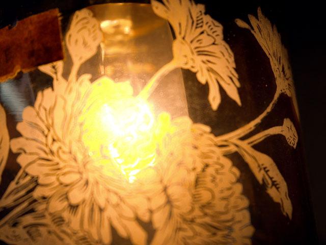 アンティーク 照明 シェード シェード クランベリー・エッチド