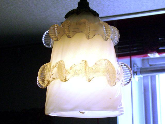 アンティーク 照明 シェード シェード ホワイト・クリアフリル