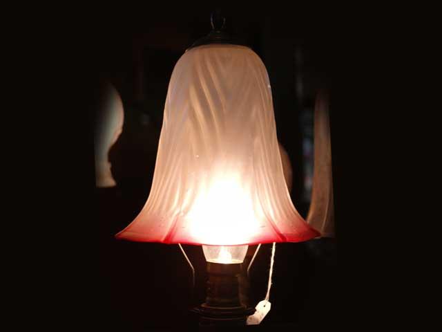 アンティーク 照明 シェード シェード クランベリー サテン