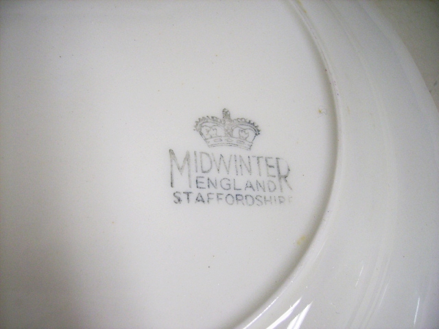 雑貨(キッチン) 雑貨陶器 Midwinter(ミッドウィンター) プレート