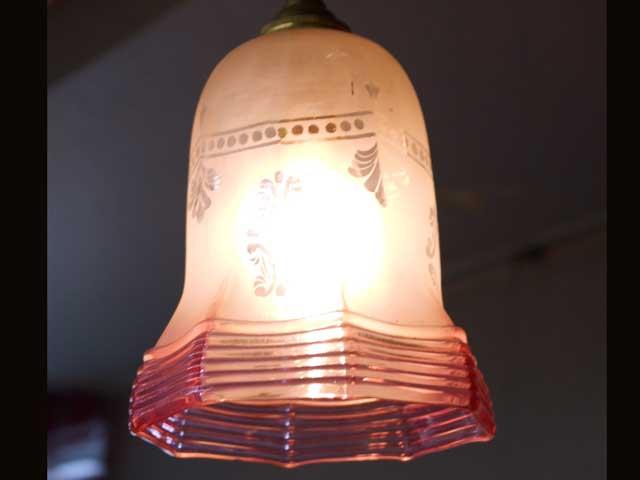 アンティーク 照明 シェード シェード クランベリー縁