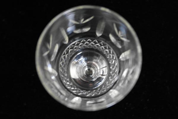 アンティーク ガラス クリアー系 グラス 5客セット (84,85,86,87、88)