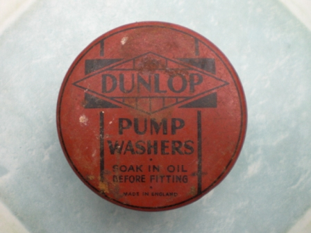 雑貨(ホビー) ティン(缶) DUNLOP PUMP WASHERS