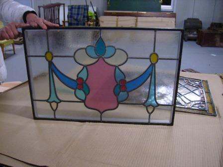 ステンドグラス パネル (フレーム付き) アンティーク 建材 ステンドグラス