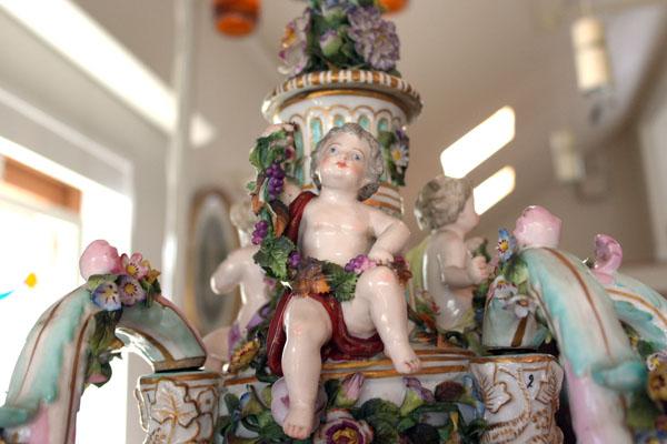 アンティーク 陶磁器 マイセン・ドレスデン コレクション 非売品 マイセン キャンドル シャンデリア