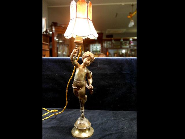 アンティーク 照明 ランプ(すでに組み合わせられている照明) エンジェル Marcel Debut (French, 1865-1933) ペア